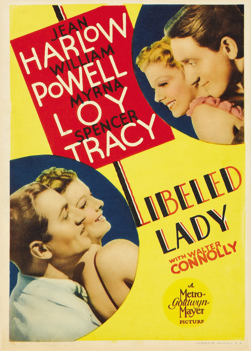 1936 Libeled Lady movie poster