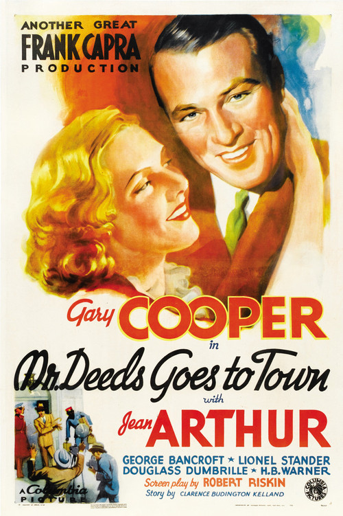 1936 Mr. Deeds Goes To Town movie poster