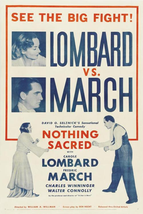 1937 Nothing Sacred movie poster
