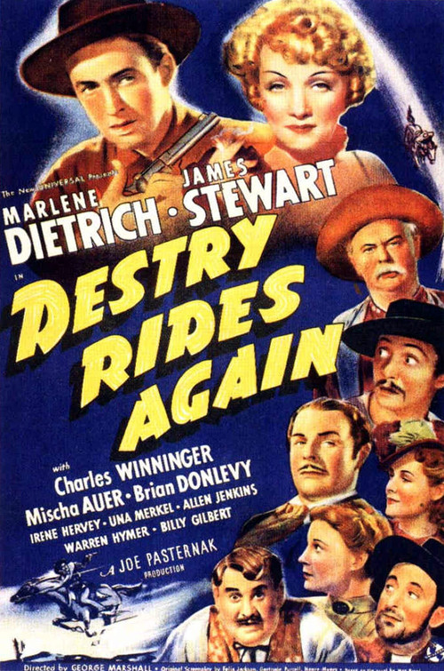 1939 Destry Rides Again movie poster