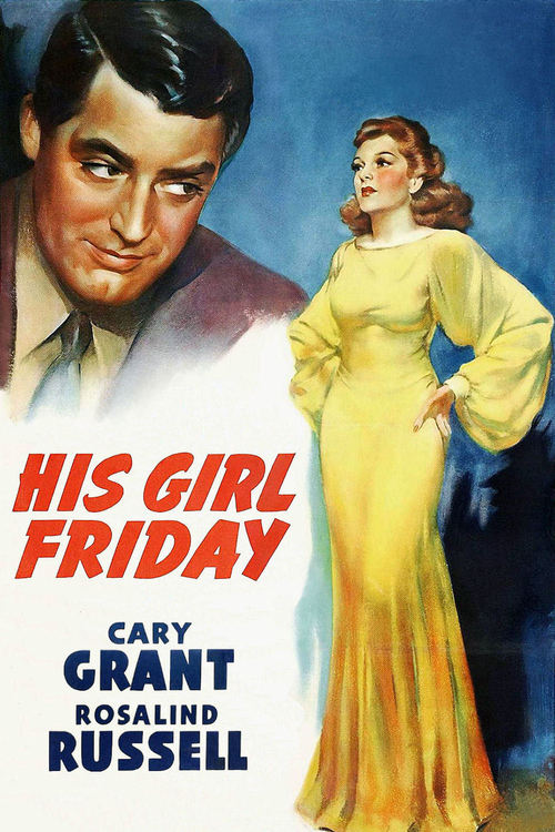 1940 His Girl Friday movie poster