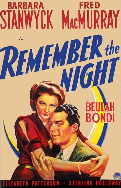 1940 Remember the Night movie poster