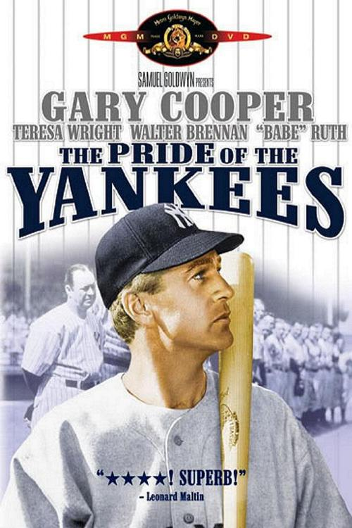 1942 The Pride of the Yankees movie poster