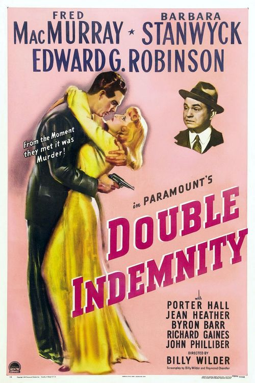 1944 Double Indemnity movie poster