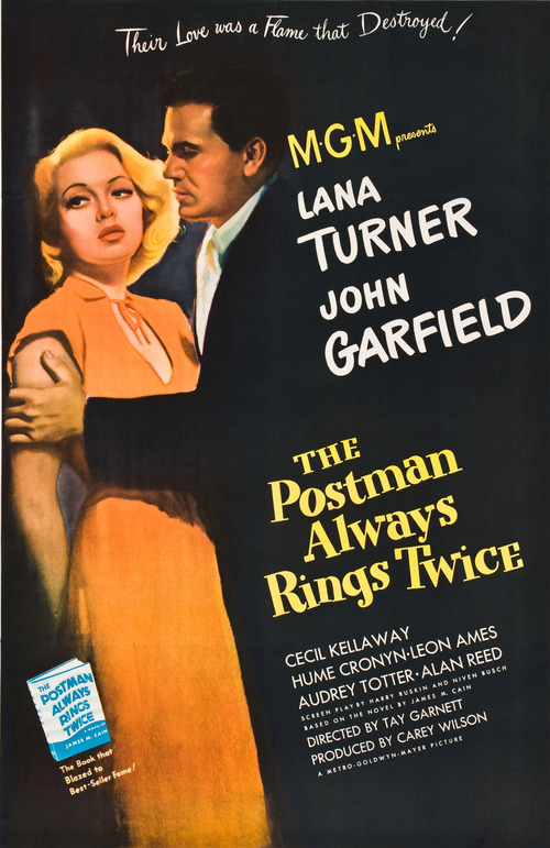 1946 The Postman Always Rings Twice movie poster