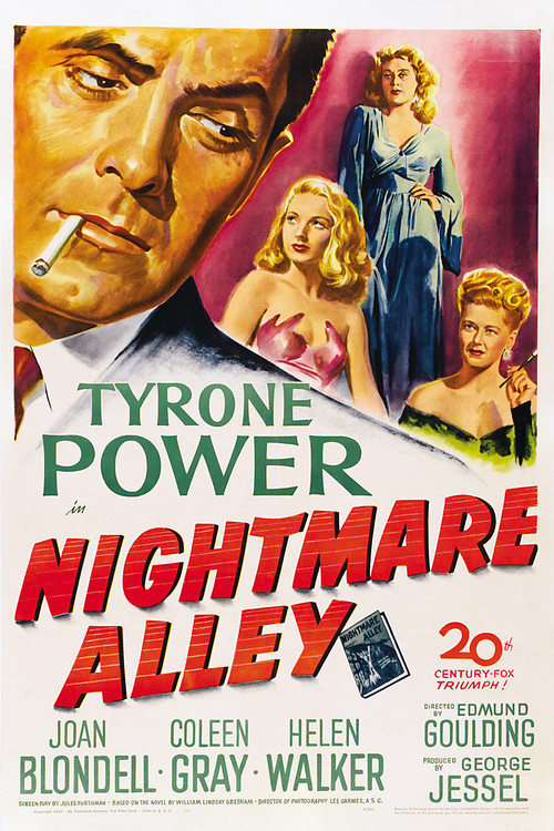 1947 Nightmare Alley movie poster