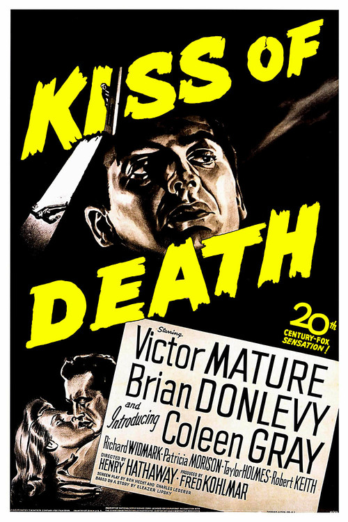 1947 Kiss of Death movie poster