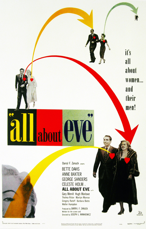1950 All About Eve movie poster