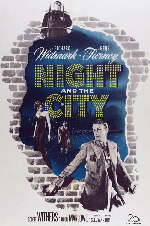 1950 Night and the City movie poster