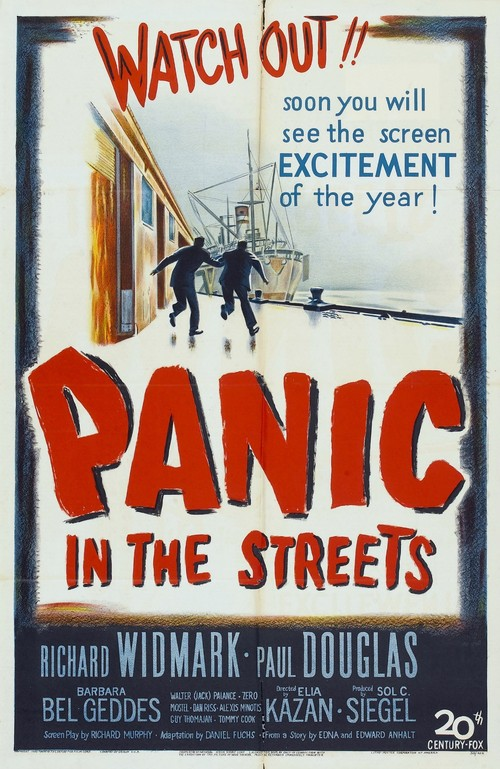1950 Panic in the Streets movie poster