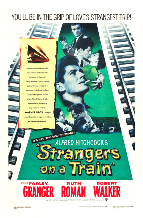 1951 Strangers on a Train movie poster