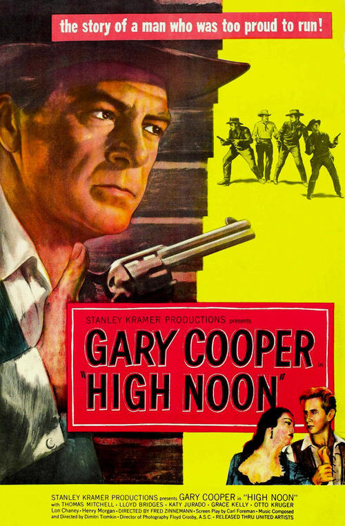 1952 High Noon movie poster