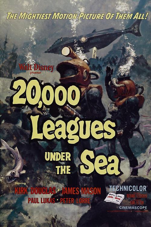 1954 20,000 Leagues Under the Sea movie poster