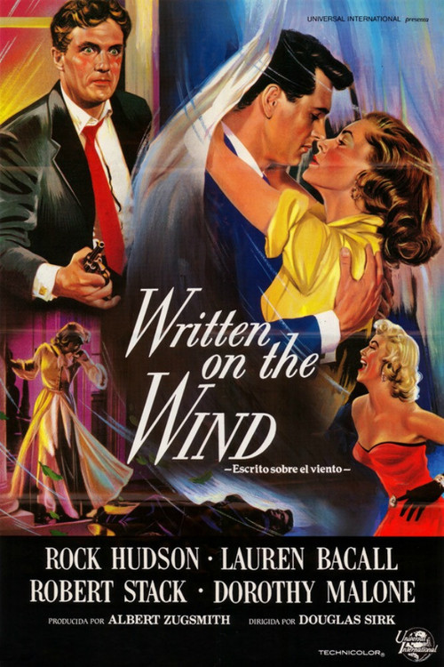 1956 Written on the Wind movie poster