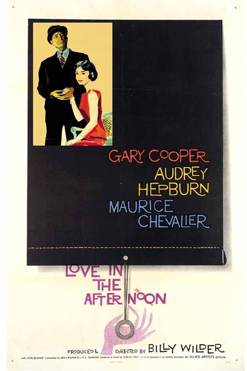 1957 Love in the Afternoon movie poster