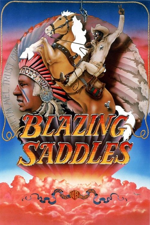 1974 Blazing Saddles movie poster