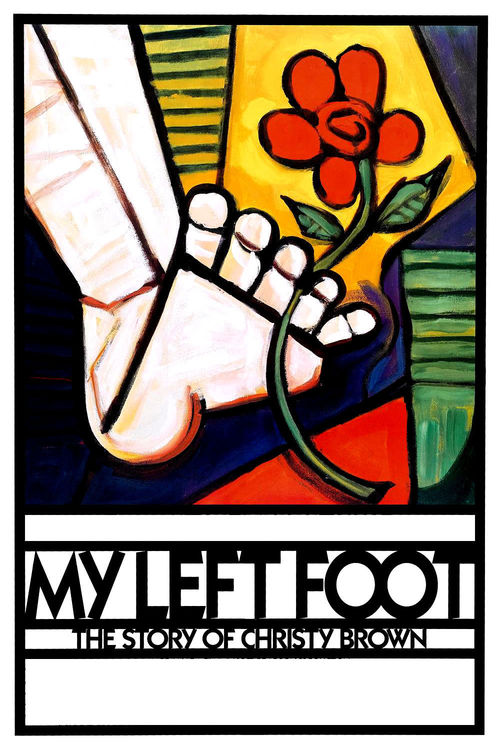 1989 My Left Foot movie poster