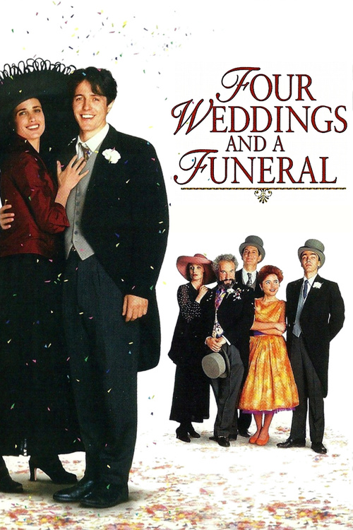 1994 Four Weddings and a Funeral movie poster