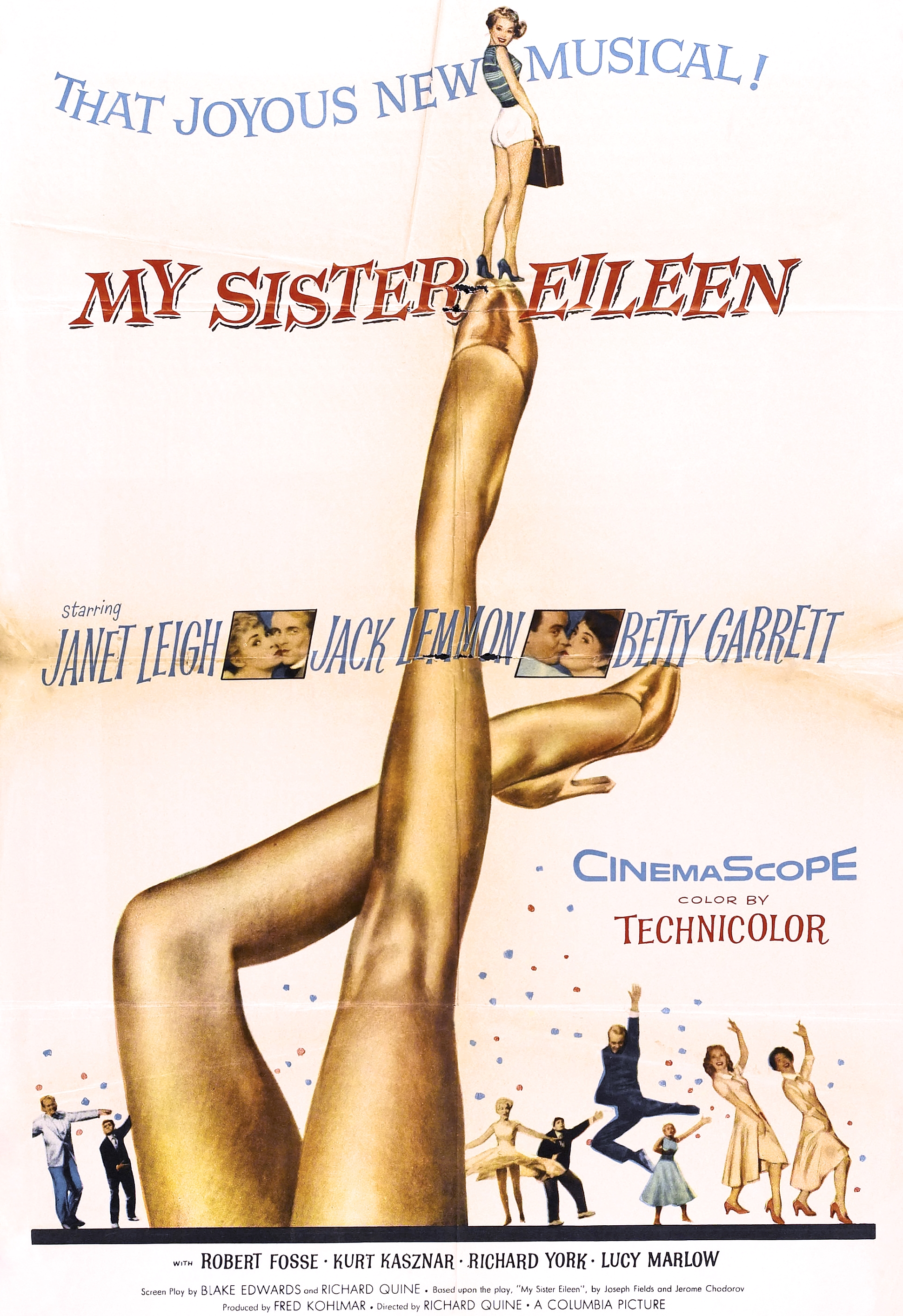 1955 My Sister Eileen movie poster