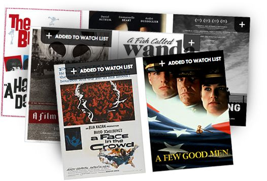 Sign up for access to your own watch list of movies